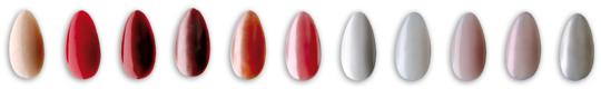 Fingernägel in verschiedenen Farben